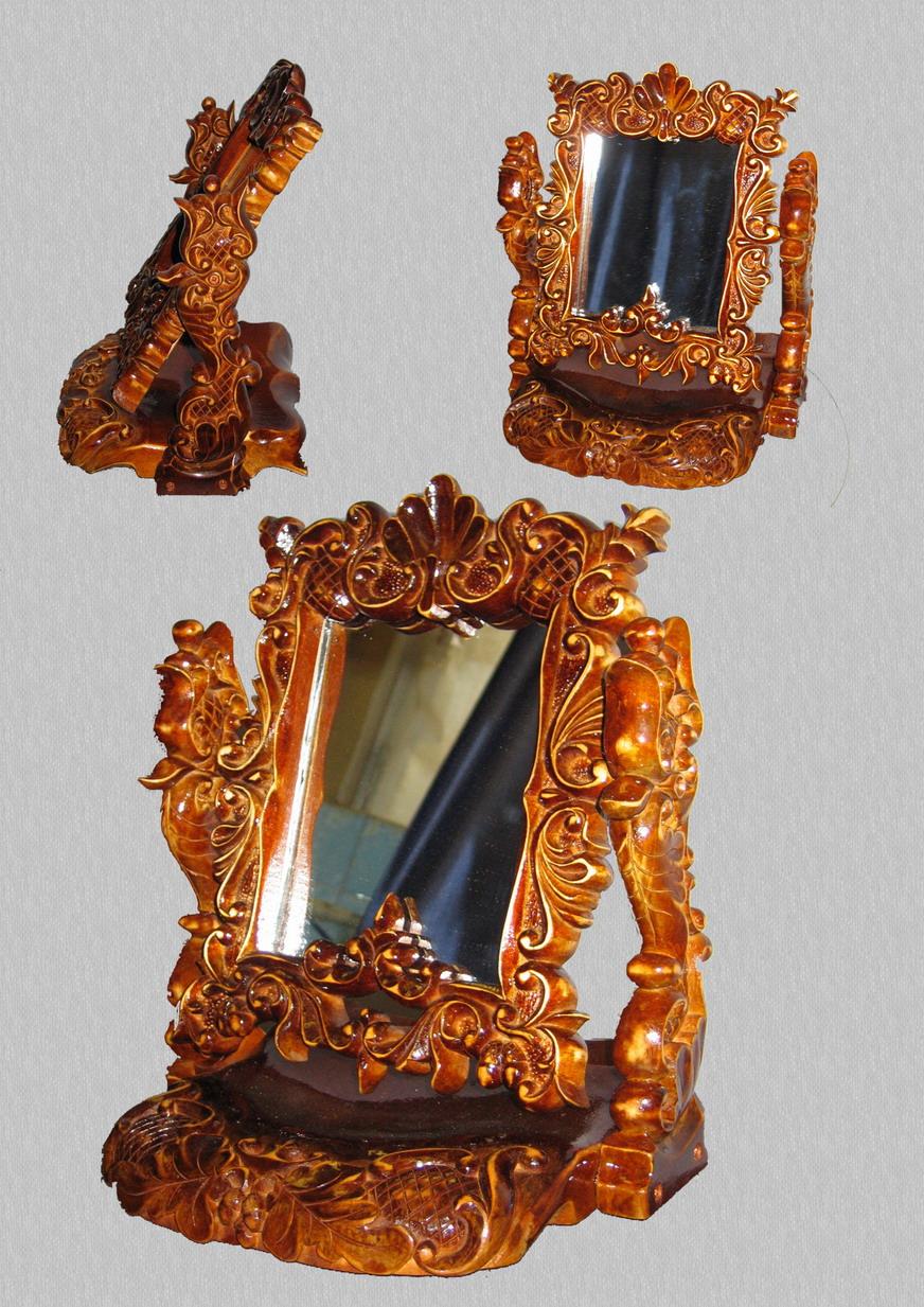 Рамка для зеркала резная из дерева своими руками